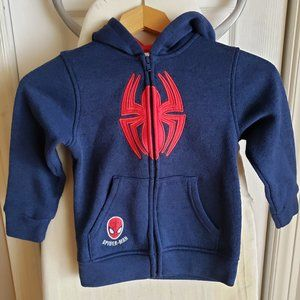 Hooded spider-Man Zip Up Sweater Size 5 (T5)